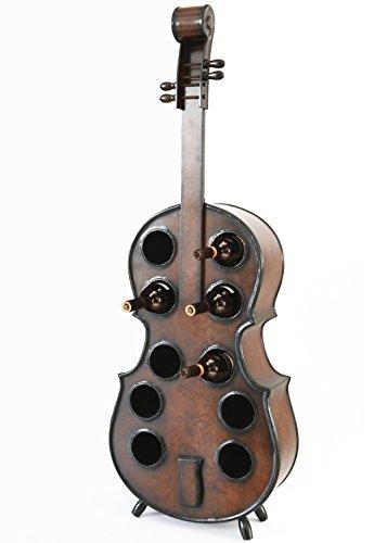 (Vintiquewise QI003342L Wooden Violin Shaped Rack, 10 Bottle Decorative Wine Holder)