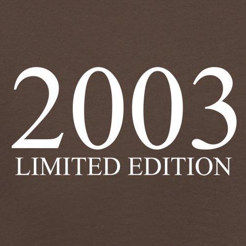 2003 Limierte Auflage / Limited Edition - 14. Geburtstag - Herren T-Shirt - Schokobraun - M