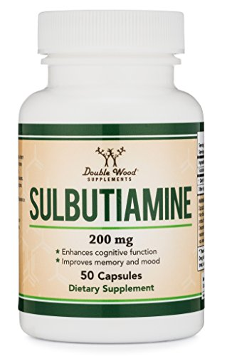 Sulbutiamine Capsules (Nootropic Supplement) Made in USA, 50 Count 200mg
