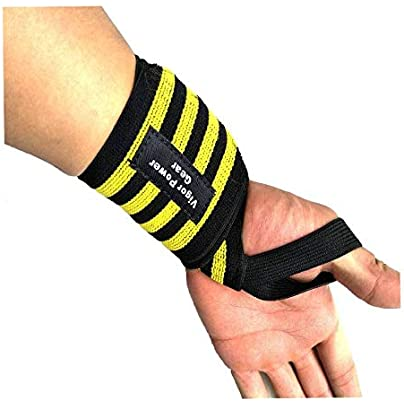HLHSSS Wrist Wraps Fitness Wristband Wrist Wrapped Bandages Gym Waist Support Elastic Material Cotton Inclueded Comfortable Weightlifting Wrist Support Estimated Price £24.83 -