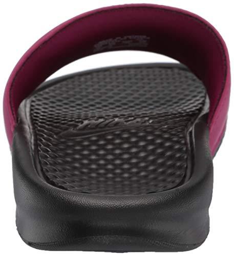 Nike Women's Benassi Just Do It Sandal, True Berry/Burgundy ash, 7 Regular US by Nike (Image #2)