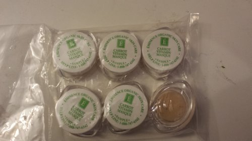 Eminence Carrot Vitamin Mask Sample Set of Six Travel Size 100% Fresh Organic by Eminence Organic Skin Care