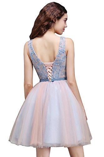 Rosa Ballkleider Cocktailkleider Babyonline Kleid Abendkleider Kurz Besticktes Damen Blau xwOIq1z0I