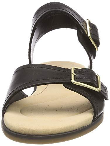 Black Primrose Clarks alla con Sandali Nero Caviglia Cinturino Donna bay Leather ZqPawxqz