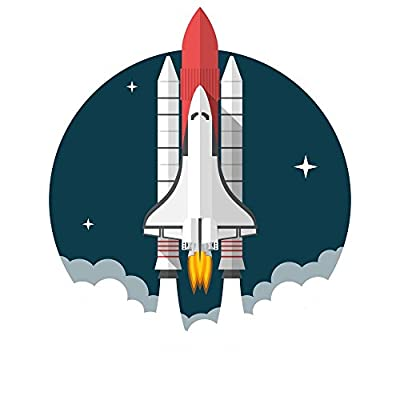 Wallmonkeys Space Shuttle Wall Decal Peel and Stick Graphic WM58455