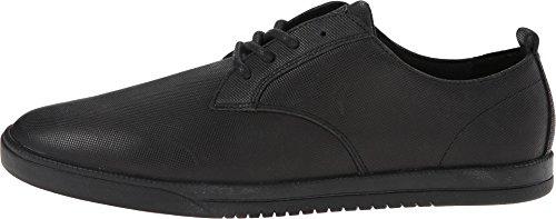 Clae Men's Ellington Black Debossed Leather Sneaker 10.5 M US