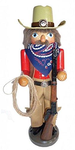 Santa's Workshop Home on the Range Western Ranger with Lasso Cowboy Christmas Nutcracker 15 Inch