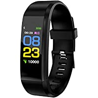 fiado Plus Smart Wristband Heart Rate Monitor/Blood Pressure Sensor with 0.96 Inch OLED Color Display , Bluetooth V4.2/Life Waterproof Compatible with Android 4.4/iOS 8.2