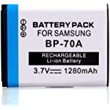 Neewer Rechargeable DC 3.7V Replacement Li-ion BP-70A Battery Pack for Samsung