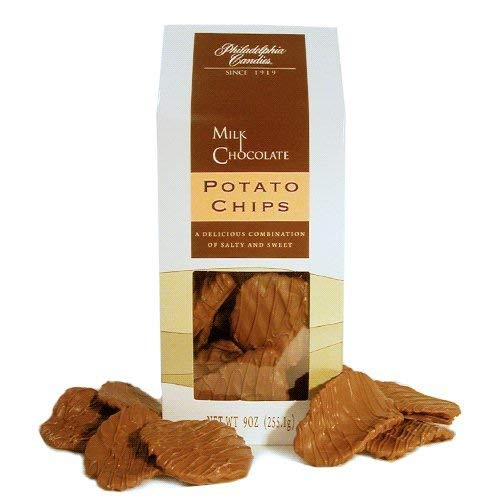 Philadelphia Candies Original Potato Chips, Milk Chocolate Covered 9 Ounce Gift Bag ()
