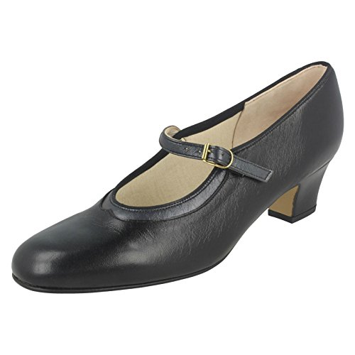 Nil Simile Ladies Mary Jane Shoes Bonnie Black/Pewter (Black)