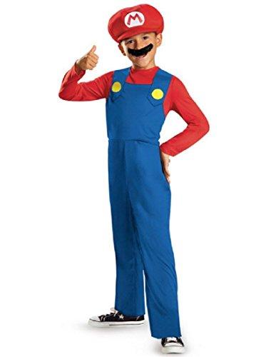 Mario and Luigi Classic Child Costume Mario -