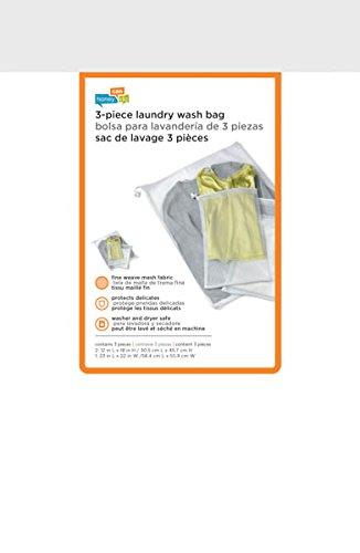 Honey-Can-Do LBG-01148 Mesh Wash Bag set (1 sweater/2 lingerie), 3-Pack, 3-Piece