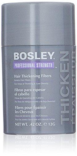 Bosley Professional Strength Hair Thickening Fibers, Dark Brown, 0.42 oz by Bosley Professional Strength