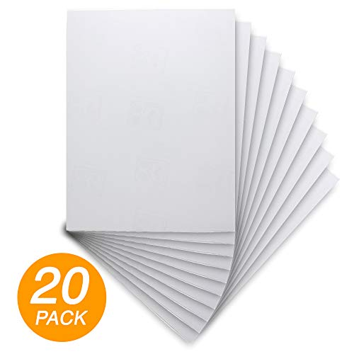 "Emraw Super Great 8.5"" X 11"" Inch Full Sheet White Multipurpose Labels - Great for School, Home & Office - 10 Labels Per Pack - (2-Pack)"