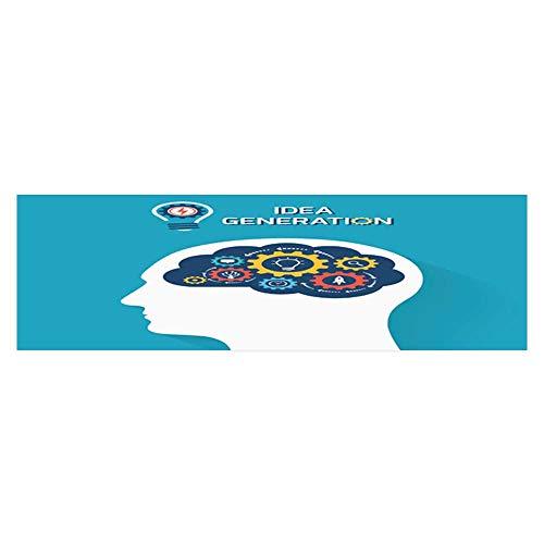 Dragonhome Decorative Aquarium idea Generation Concept Human Head with Brain and Gears Aquarium Sticker Wallpaper Decoration L23.6 x H19.6