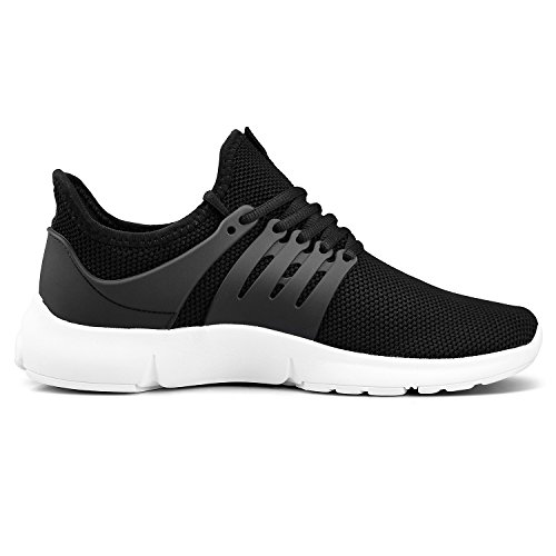 Feetmat Womens Gym Shoes Running Sports Walking Tennis Shoes Mesh Sneaker for Women Size 9.5 Black/White