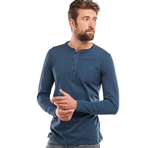 engbers Herren Henley Shirt, 24054, Blau