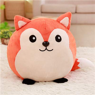 Mr Tree 1 PC 35×40 cm Lovely Animal Soft Pillow Panda Pig Cow Fox Plush Toy Stuff Doll Cushion Gifts for Children Bedroom,13.8''×15.7'',Fox -