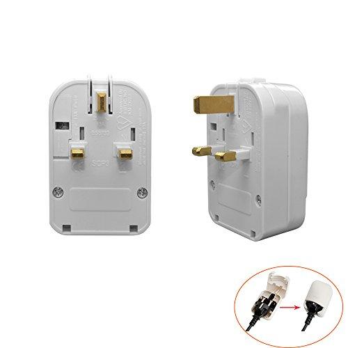 YuaDon 1/3/5PCS Optional Fuse 1A,3A.5A,13A Uk Travel Plug Adapter Converter for CEE7 Schuko Plugs - 13A 250V by YuaDon