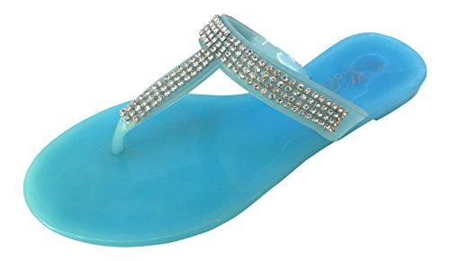 WS - Sandalias de Material Sintético Mujer Azul