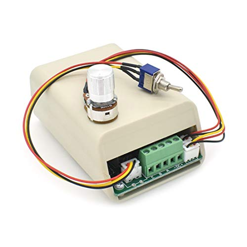 Sydien DC 5-36V 15A Motor Speed Controller Regulation Reversible Forward/Reverse Three-phase with Plastic Cover