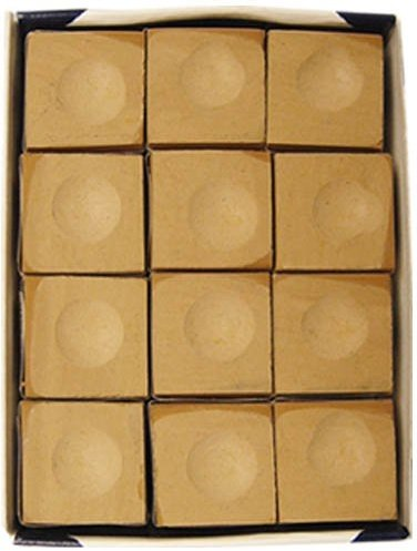 - Silver Cup One Dozen Tan Pool Cue Chalk