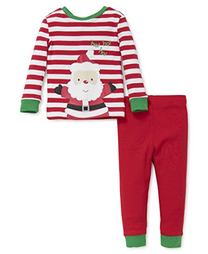 Little Me Baby Holiday 2 Piece Pajama Set, Happy Santa, 18 Months