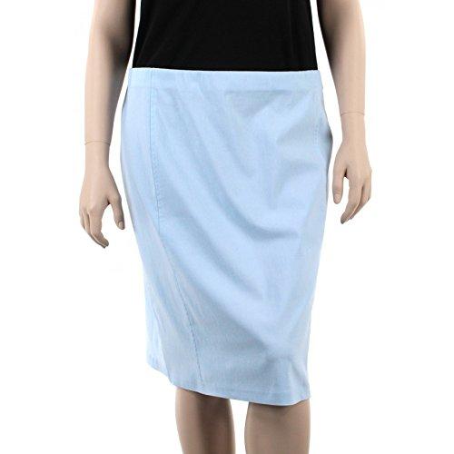 THAT'S ME Jupe Droite Ultra Strech Grande Taille Femme Bleu Ciel du 44 au 58 Bleu Ciel