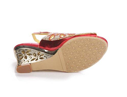 ... SHFANG Sandalias del verano de las señoras cristalinas del tacón alto  Poe del dedo del pie ef805b627bf3