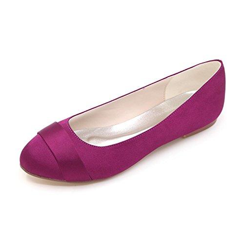 Wedding Dancer Shoes Large L Multi Yards Ballet Purple Party Wedding Evening YC Color Flat Shoes Comfortable amp; Women 7Yww4EqR