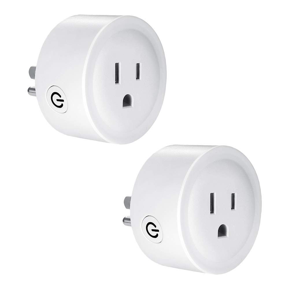 LUCKE WiFi Smart Plug WiFi Outlet That Work with Alexa Google Home IFTTT for Voice Control Smart Home Divices, No Hub Required FCC CE(2 Pack)