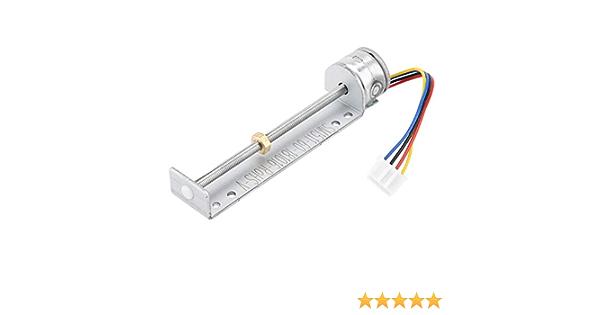 WSC HANPOSE/® 21mm Stroke Linear Actuator,DC 3V 5V 8mm Micro Stepper Motor 2-phase 4-wire Step Motor Precision Linear Screw Slider Nut