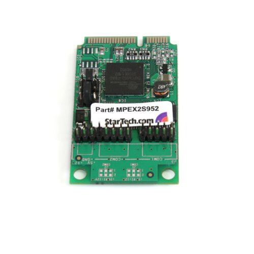 StarTech.com 2 Port RS232 Mini PCI Express Serial Card with 16950 UART MPEX2S952 (Green) by StarTech (Image #1)