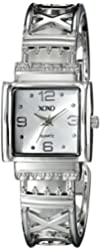 XOXO Women's XO1086 Silver Dial Silver-tone Bangle Watch