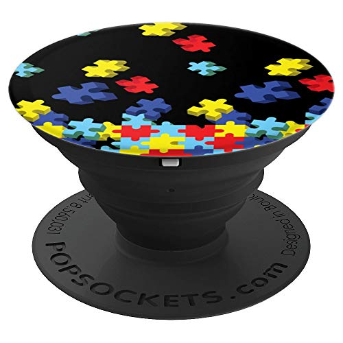 Brave New Look Autism Awareness Puzzle Pieces PopSockets Stand for Smartphones and Tablets - PopSockets Grip and Stand for Phones and Tablets