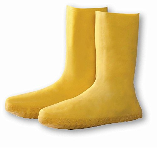 Haz-Mat Yellow Latex Nuke Boot Cover, Over The Shoe, Size ()