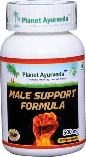 Male Support Formula for Men's Libido - 2 bottles (each 60 capsules, 500mg) - Ayurvedic Remedy by Planet Ayurveda (in USA)