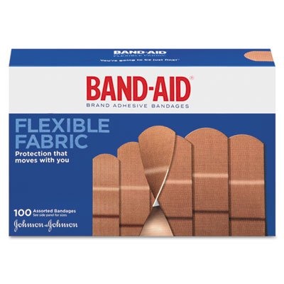Adhesive Bandages, Flexible Fabric, One Size, 1'''', 100/BX, Sold as 1 Box, 100 Each per Box