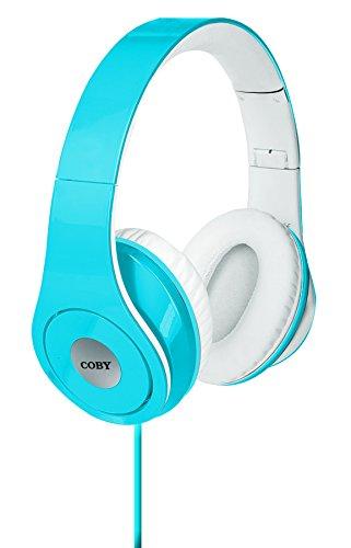 Coby Over The Ear Headphone (Coby CVH-803-BLU Jammerz Folding Headphones, Blue)