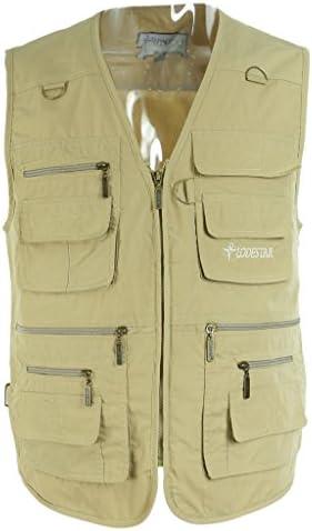 Toygogo 釣り写真ベストアウトドアトラベラージャケットマルチポケットチョッキ軽量で快適な耐久性