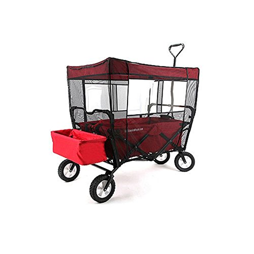 Mosquito Net for Kid's Wagon Cover Fits EasyGo Wagon Insect Netting for baby