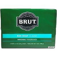 Faberge 249924 Brut Bar Soap 3.5 oz Each - Pack of 2