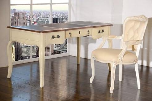 Schreibtisch weiß vintage  Schreibtisch Vintage weiß massiv Holz Antik Shabby-Chic ...