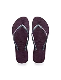 Havaianas Womens Slim Logo Metallic Flip Flop Sandal