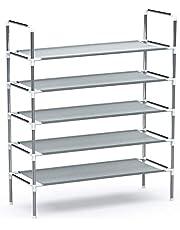 5 Layers Shoe Rack Dormitory Shoe Organizer DIY Shoe Stand Home Essentials Storage Shelf