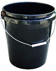 Encore Plastics 250003 70-Mil Regrind Pail/Bucket, 5-Gallon, Black