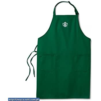 starbucks green barista apron