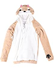 FENICAL Coral Fleece Long Sleeve Shiba Inu Dog with 3D Dog Ear and Dog Tail (Size S)