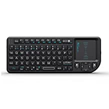 Rii Mini K01X1 2.4GHz Mini Wireless Keyboard with touchpad For Computer ,Laptop, Pad, Android TV Box,  Black